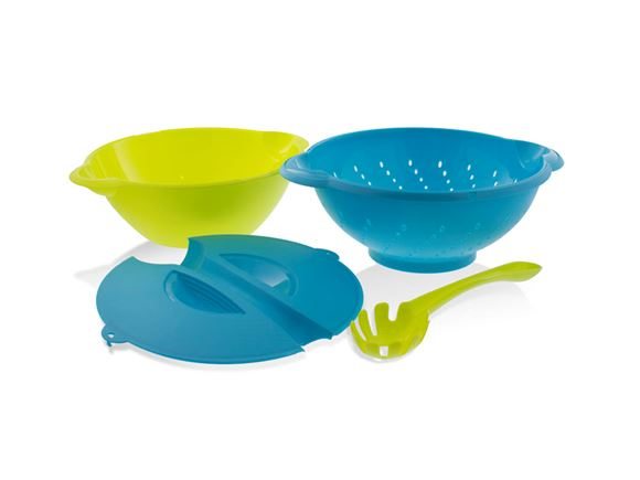 4pc Stackable Pasta Serving Set - Blue & Green product image